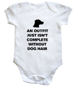 HippoWarehouse AN OUTFIT JUST ISN'T COMPLETE WITHOUT DOG HAIR baby vest boys girls