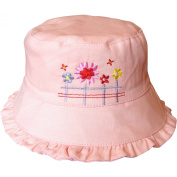Baby Girls Reversible 2 in 1 Floral Flowers Bucket Summer Sun Hat