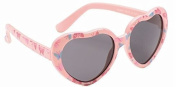 Baby Toddler Pink Heart Sunglasses with Soft Durable Plastic Frame and Black Smoked Lenses Providing Full UV 100% Protection Ideal for 0 to 3 Years