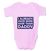 Bang Tidy Clothing Baby Girl's More Hair Than Daddy Baby Grow Bodysuit