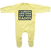 Bang Tidy Clothing Baby Girl's More Hair Than Daddy Rompersuit