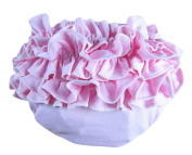 BuyHere Baby Girl's Cotton Frilled Ruffle Underpants,Pink,Small Size