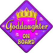 TORQ GODDAUGHTER Baby on Board Car Window Sign