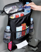 Car Seat Organiser Tidy With Cool Insulated Cooler Bag Map Tissue Drinks Holder