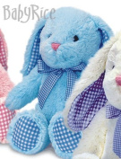 BabyRice New Baby Boy or Girl Soft & Cuddly Floppy Long Eared Rabbit - Choose your colour
