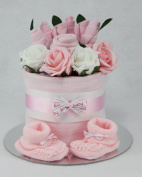 Baby Girl Clothes Flower Bouquet Nappy Cake New Born Baby Shower Gift