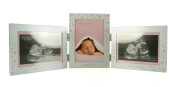 Triple Baby Girl Scan Photo Frame Gift