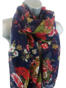 New Ladies Soft Large Floral Rose Print Maxi Scarf Hijab Wrap 8 Colours Ideal as a gift. exclusive to Accessorise-me.