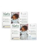 TWIN pack of Nature Babycare Nappies (Size 1) Newborn