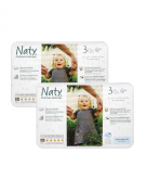 TWIN pack of Nature Babycare Nappies (Size 3) Midi