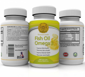Fish oil omega 3 - 180 Capsules - 1000mg Per Serving, 6 months supply - high concentration of DHA and EPA - The best for maintaining Cardiovascular Health - Joint Health - Supports Brain Health - Immune System Boost -. Feel Good Gold Omega 3.