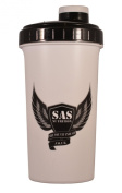 SAS Shaker Bottle and Protein Mixer - Smart Cup - Blend Your Pre Workout Drink Effortlessly Dishwasher Proof Shaker Cup 750ml XL - White