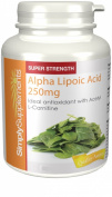 SimplySupplements Alpha Lipoic Acid 250mg |Ideal for use alongside Acetyl L-Carnitine|60 Capsules