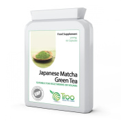 Japanese Matcha Green Tea 500mg 60 Capsules - UK Manufactured GMP Certification for Guaranteed Quality