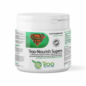 Troo-Nourish Supers 300g Powder - Organic Superfood Nutritional Supplement Containing Wheatgrass, Barley Grass, Quinoa, Spirulina, Seagreens® Ascophyllum (Kelp), Acai Berry & More - GMP Manufactured In The UK