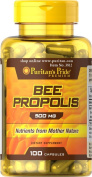 Bee Propolis Capsules 100% Natural High Quality 500 Mg 100 capsules. Comparable to Bee Pollen by Puritan's Pride 1 Bottle
