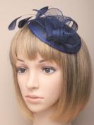 Allsorts® Large Navy Blue Hat Aliceband Fascinator Weddings Ladies Day Race Royal Ascot