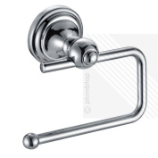 . New Toilet Roll Paper Holder Wall Mounted Bathroom Accessory Chrome