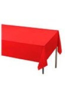 Red Plastic Table Cover 137cm x 274cm