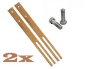 2 x Hardwood Headboard Legs Struts - Slotted & Pre-Drilled Good Quality + Screws