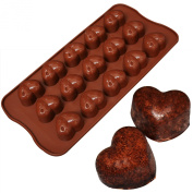 SILICONE CHOCOLATE MOULD TRAY ROUND ICING SUGAR CRAFT CAKE JELLY BAKING ICE-HEART Fusion