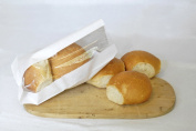 2000 x Bread Bags. Small White Bag with Window. 120+30 x 220 mm