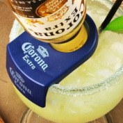 CoronaRita Bottle Holder | CoronaRita Clip for Schooner & Goblet Glasses | Coronita Rita Clip, Beergarita Clip, Mexican Bulldog Margarita Clip