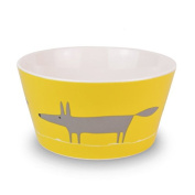 Scion Mr Fox Cereal Bowl, Charcoal/Yellow