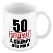 50 Officially A Grumpy Old Man - Funny Novelty 50th Birthday Gift Mug