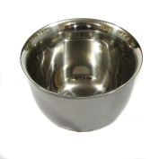 Wowlife 6.5cm*4.5cm Stainless Steel Double Layer Heat Insulation Smooth Shave Brush Mug Bowl Cup