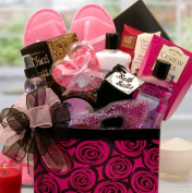 Relax the Day Away Spa Gift Basket   Cherry Blossom Scented