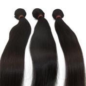 LaNova Beauty Brazilian Hair Extensions,Size:3pcs 41cm ,Sliky Striaght,Natural Colour,3pcs/lot,100g/pc,Brazilian Extensions