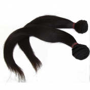 LaNova Beauty Wholesale Brazilian Hair,Mix Size:2pcs 16+46cm ,Sliky Striaght,Natural Colour,2pcs/lot,100g/pc,Virgin Brazilian Hair for Cheap
