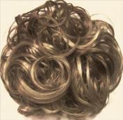 KATIE 18cm Pony Fastener Hair Scrunchie by Mona Lisa 18-22 Ash Brown-Blonde