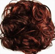 KATIE 18cm Pony Fastener Hair Scrunchie 33-130 Dark Auburn-Copper Red