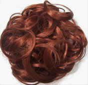 KATIE 18cm Pony Fastener Hair Scrunchie by Mona Lisa 130-Copper Red