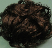 LACEY 7.6cm Pony Fastener Hair Scrunchie by Mona Lisa 6-Dark Chestnut Brown