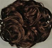 KATIE 18cm Pony Fastener Hair Scrunchie by Mona Lisa 6-Dark Chestnut Brown