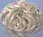 KATIE 18cm Pony Fastener Hair Scrunchie by Mona Lisa 59 Grey with 5% Black