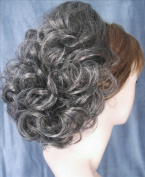 DAWN Clip On Hairpiece by Mona Lisa 44-Off Black with 50% Grey