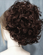 PHOEBE Clip On Hairpiece by Mona Lisa 6-Dark Chestnut Brown