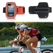 Excellent Value Slim Fit Red Running Armband Case Cover for Apple Iphone 4s/4