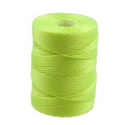 C-Lon Bead Cord, Neon Yellow