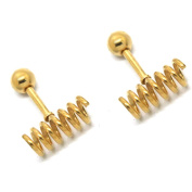 Thenice 16g 1.2mm Personality Unique Spiral Ear Rings Stud Earrings Body Piercing