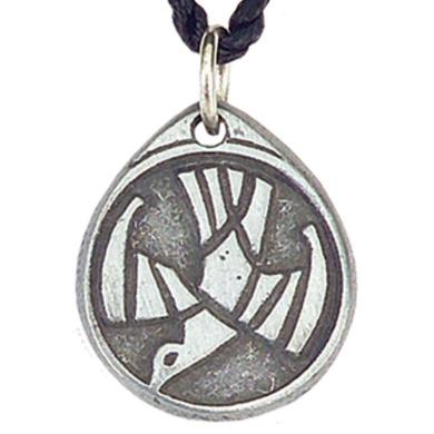 Pewter Circle Spirit Pendant