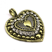 PendantScarf 6 Pieces/lot Antique Bronze Love Heart Jewellery Scarf Pendant Accessories