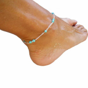 Binmer(TM)Unique Nice Turquoise Beads Silver Chain Anklet Ankle Bracelet Foot Ankle Chain