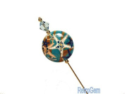 Swarovski Crystal With Reconstituted Stone Hat Pin