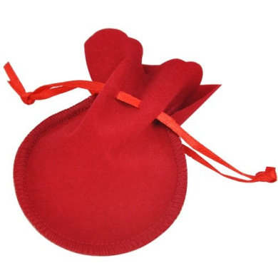Topro Double Sided Oval Velvet Jewellery Gift Pouch Drawstring Gift Pack of 50pcs Colour (Red)