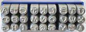 """Supply Guy 6mm Dotz Font Alphabet Punch Metal Letter Jewellery Stamp Set, 27 Pieces Including """" & """", Available in Uppercase Set Only"""